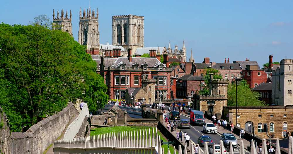 York minster, lendal bridge & city walls, york city centre, York, North Yorkshire, United Kingdom - 1130-6452