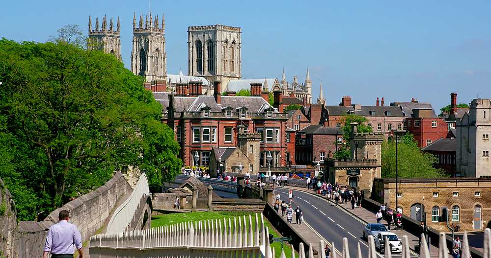 York minster, lendal bridge & city walls, york city centre, York, North Yorkshire, United Kingdom - 1130-6453