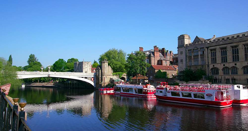 River ouse & lendal bridge, york city centre, York, North Yorkshire, United Kingdom - 1130-6454