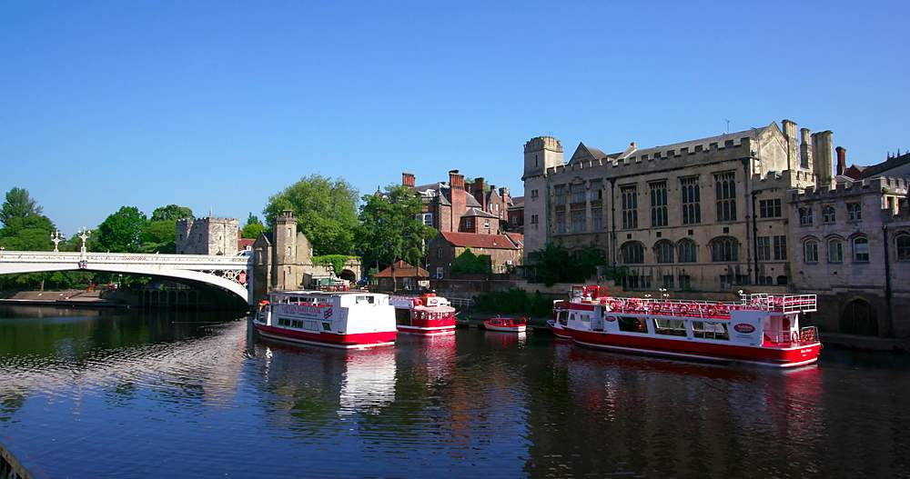 River ouse & lendal bridge, york city centre, York, North Yorkshire, United Kingdom - 1130-6456
