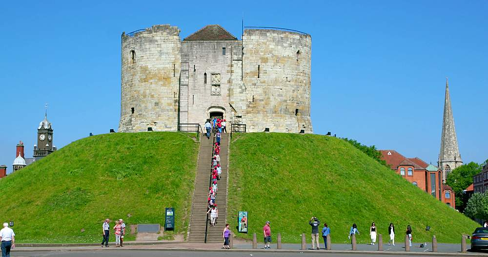 Cliffords tower, york city centre, York, North Yorkshire, United Kingdom - 1130-6463
