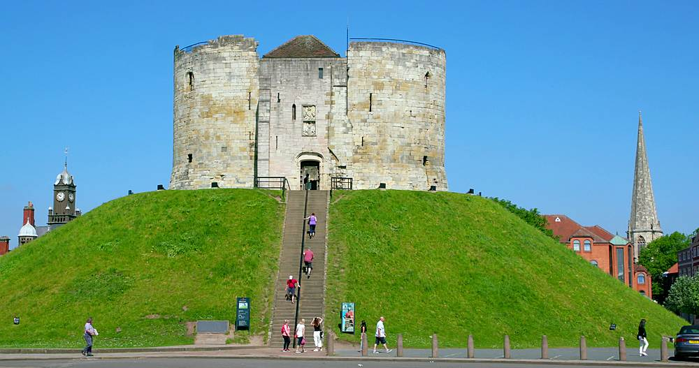 Cliffords tower, york city centre, York, North Yorkshire, United Kingdom - 1130-6464