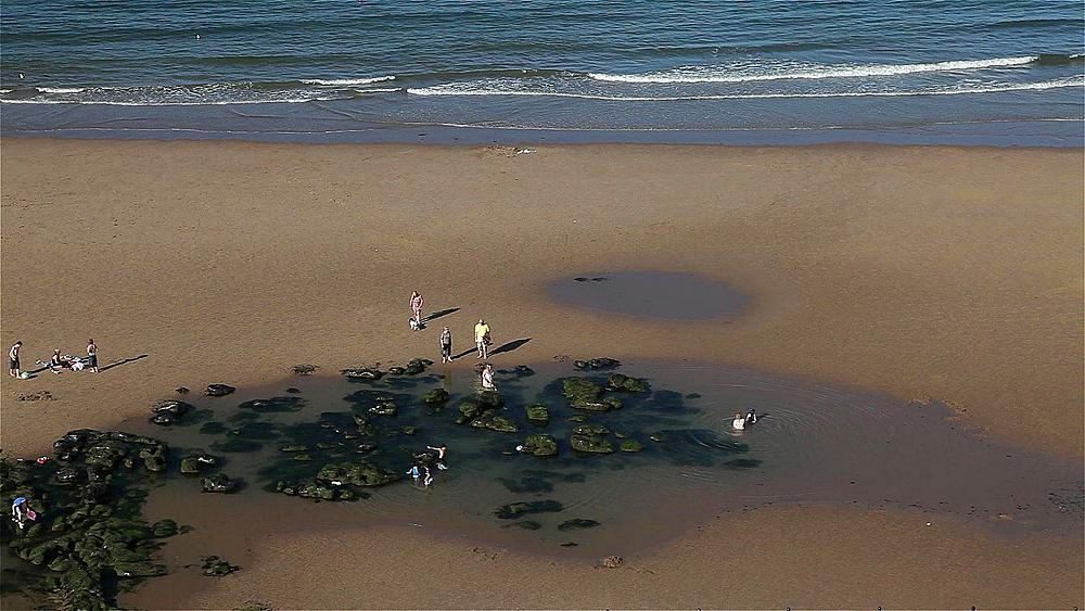 Rock Pools & North Bay Beach, Scarborough, North Yorkshire, England