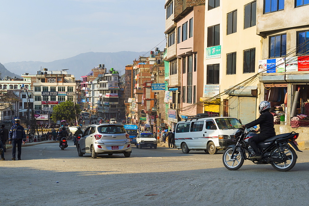 Street scene in Thamel district, Kathmandu, Nepal, Asia