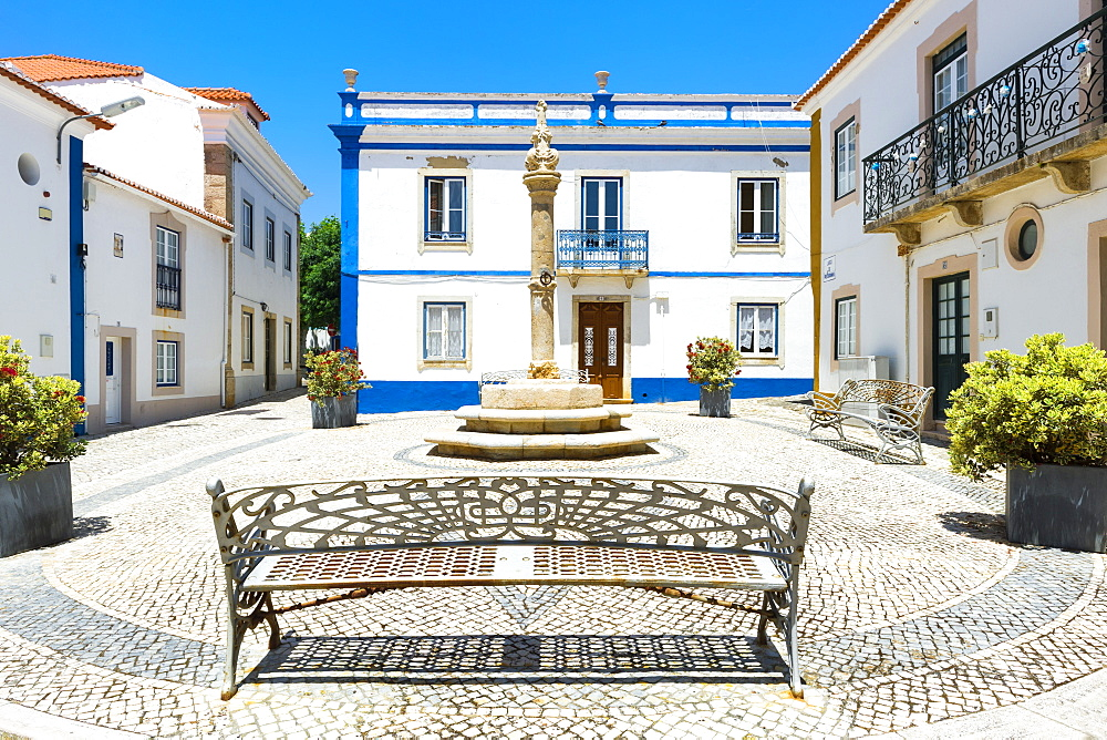 Largo do Pelourinho square, Ericeira, Lisbon Coast, Portugal - 1131-1105