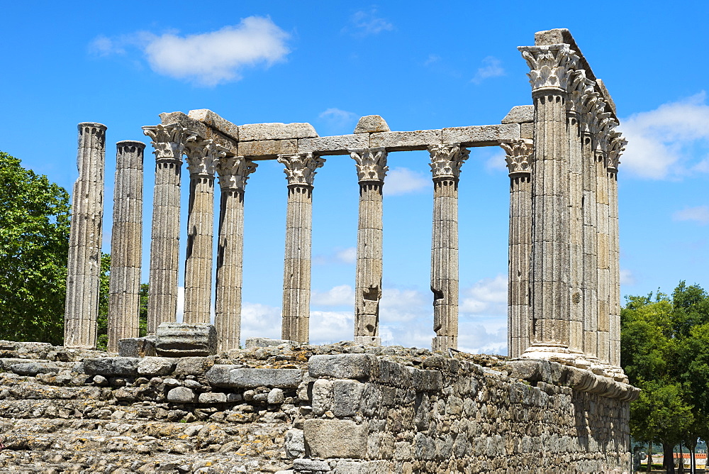 Roman temple of Diana, UNESCO World Heritage Site, Evora, Alentejo, Portugal - 1131-1111
