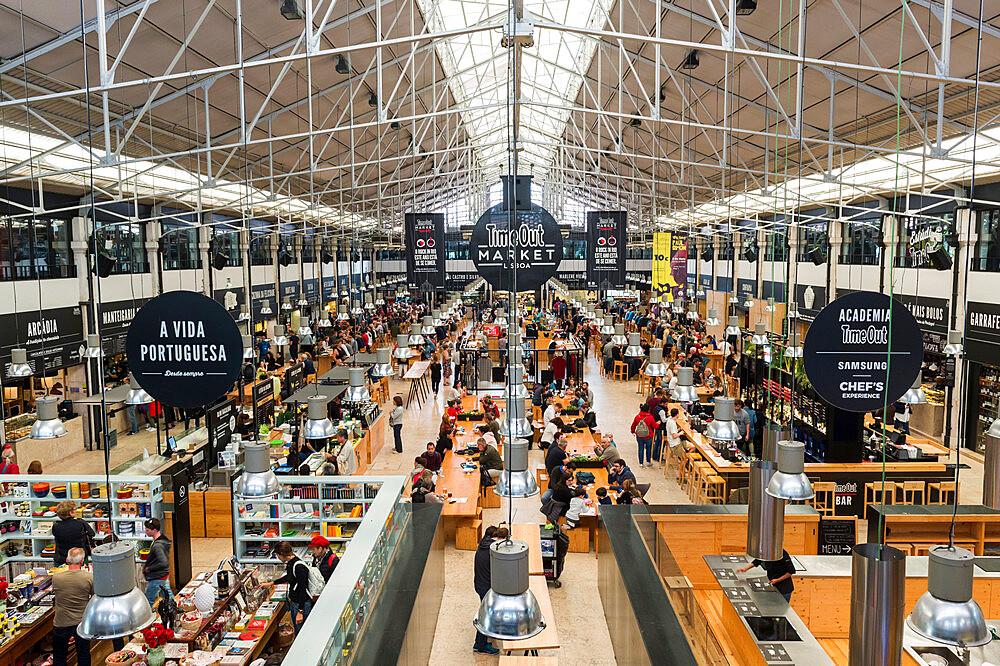 Ribeira market, Food Court, Cais de Sodre, Lisbon, Portugal