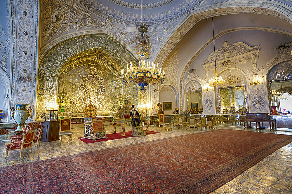 Golestan Palace, UNESCO World Heritage Site, Salam Hall, Tehran, Islamic Republic of Iran, Middle East - 1131-1258
