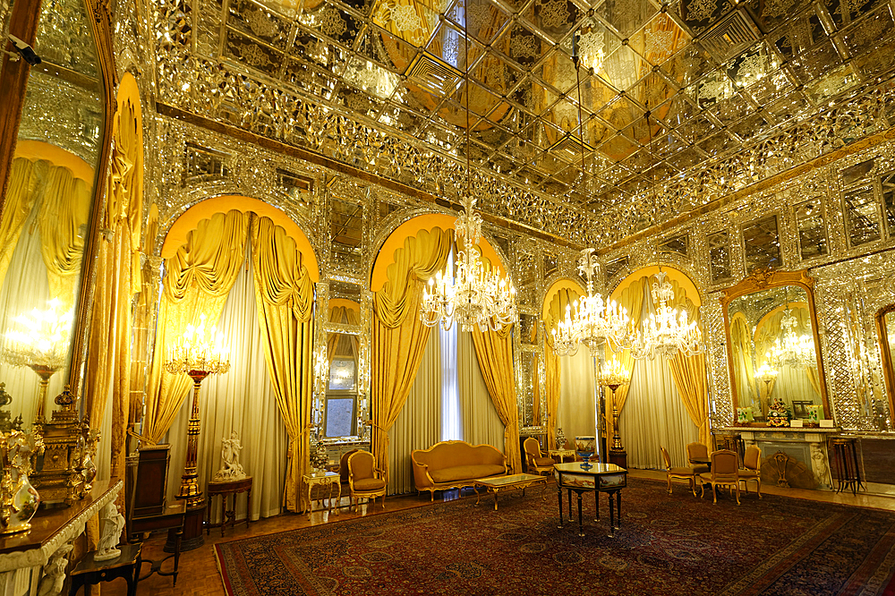 Brilliant Hall, Golestan Palace, UNESCO World Heritage Site, Tehran, Islamic Republic of Iran, Middle East