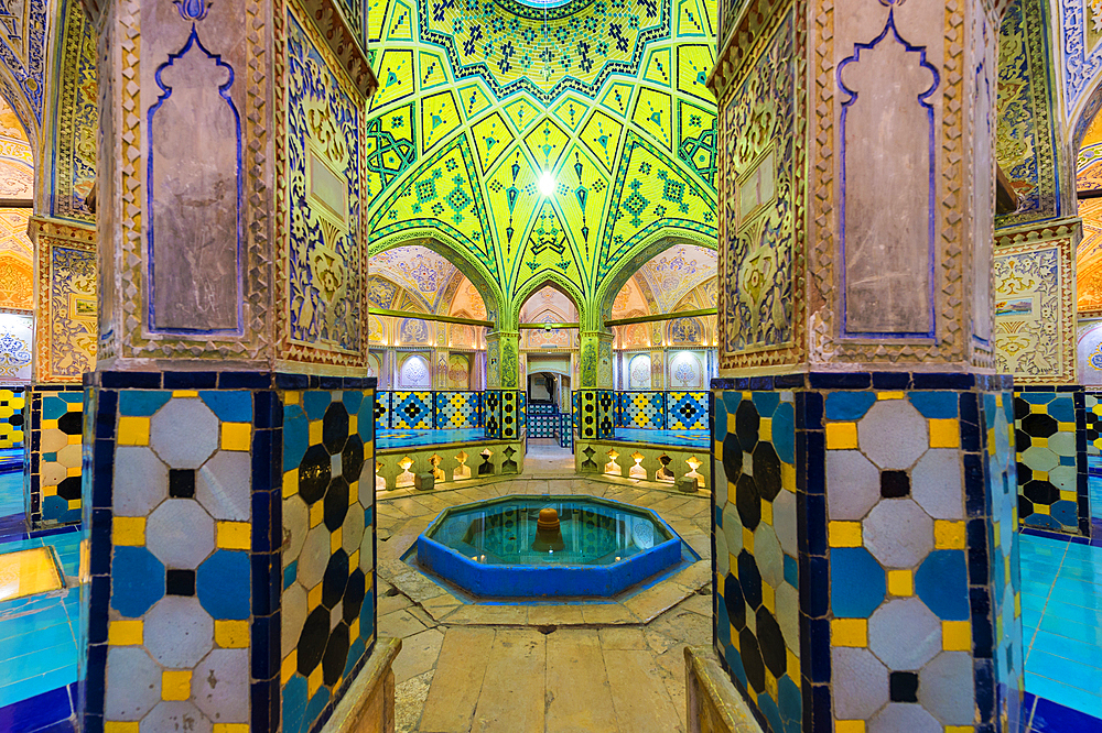 Sultan Amir Ahmad Bathhouse, Kashan, Isfahan Province, Islamic Republic of Iran, Middle East - 1131-1283