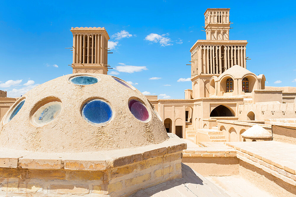 Aghazadeh Mansion and its windcatcher, Abarkook, Yazd Province, Iran