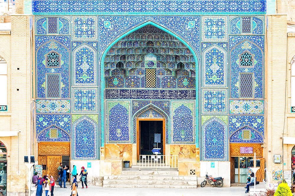 Entrance door, Sheikh Lotfallah Mosque, Maydam-e Iman square, Esfahan, Iran
