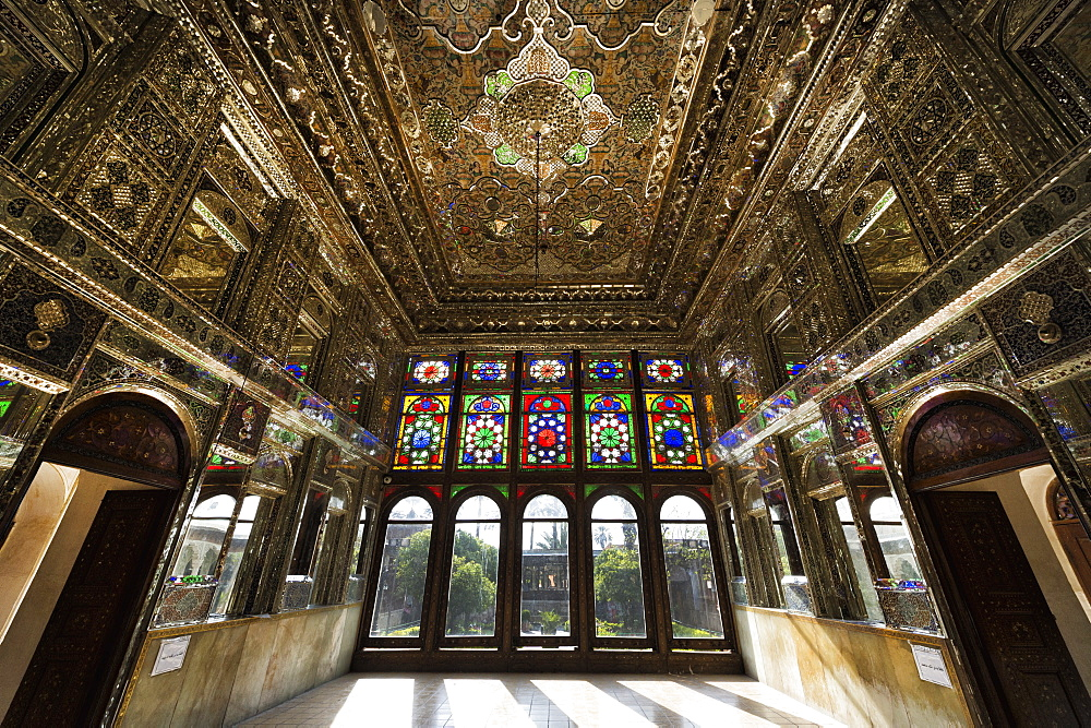 Zinat ol-Molk Mansion, Mirror Hall, Shiraz, Fars Province, Iran, Middle East