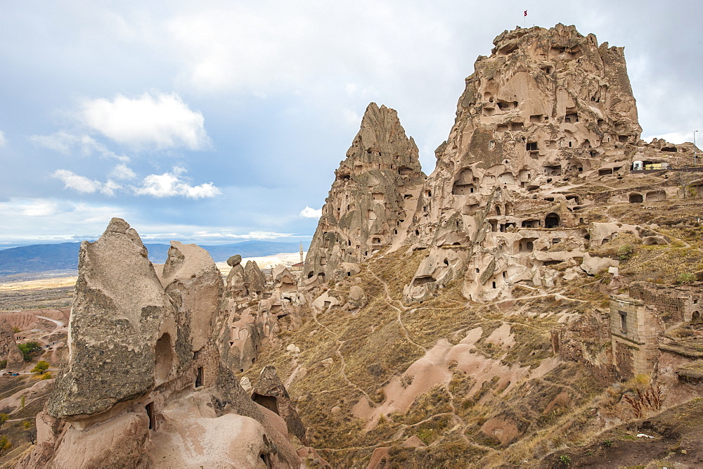 Uchisar, Cappadocia, UNESCO World Heritage Site, Anatolia, Turkey, Asia Minor, Eurasia