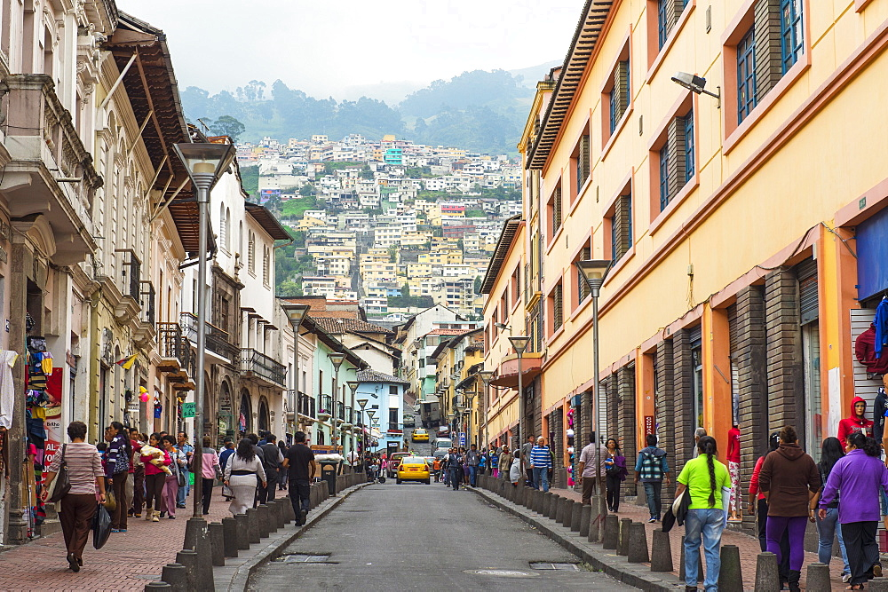 Chile Street, Quito Historical Center, Quito, UNESCO World Heritage Site, Pichincha Province, Ecuador, South America