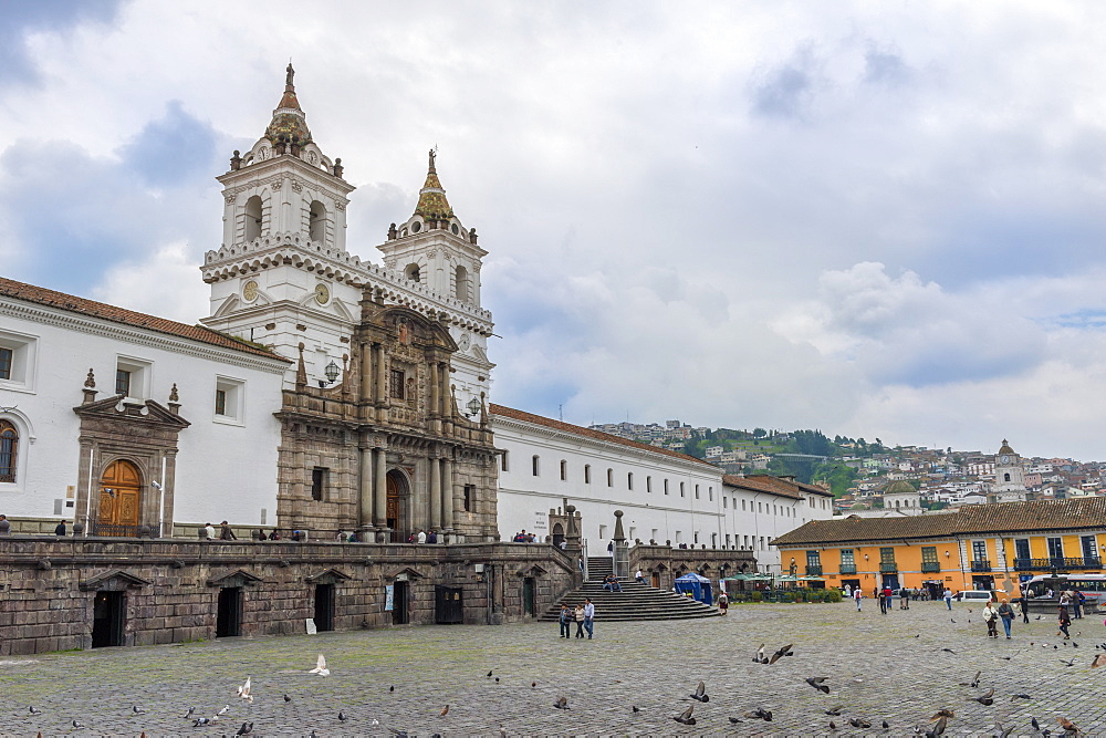 San Francisco Church and Convent, Quito, UNESCO World Heritage Site, Pichincha Province, Ecuador, South America