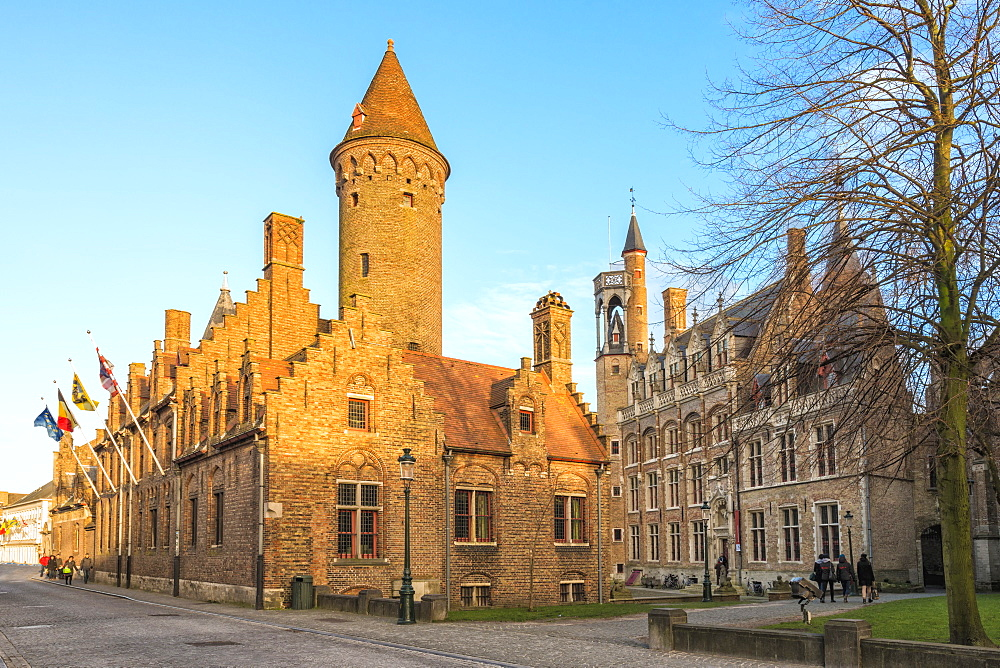 Gruuthuse Museum, Historic center of Bruges, UNESCO World Heritage Site, Belgium, Europe