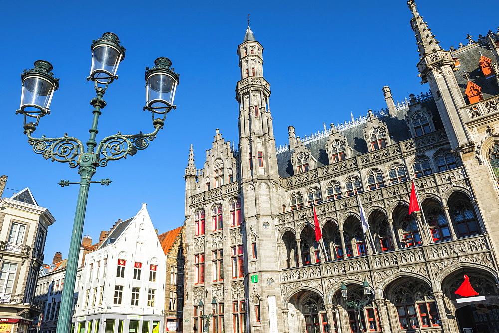 Historium Museum, Market square, Historic center of Bruges, UNESCO World Heritage Site, Belgium, Europe