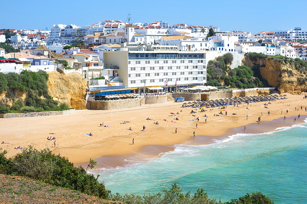 Fisherman beach, Albufeira, Algarve, Portugal, Europe