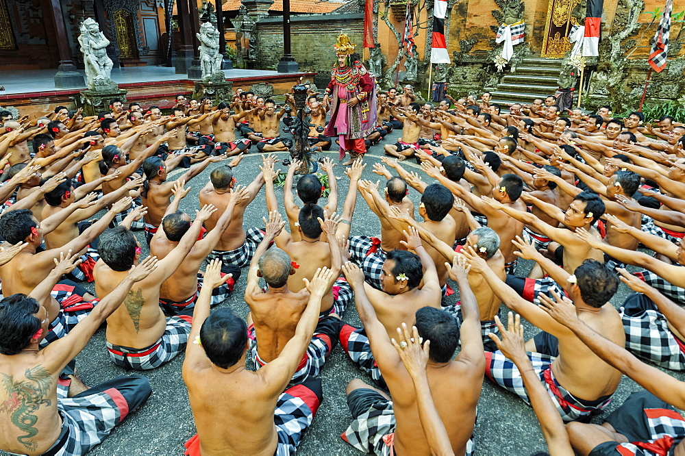 Performance of the Balinese Kecak dance, Ubud, Bali, Indonesia, Southeast Asia, Asia - 1131-564