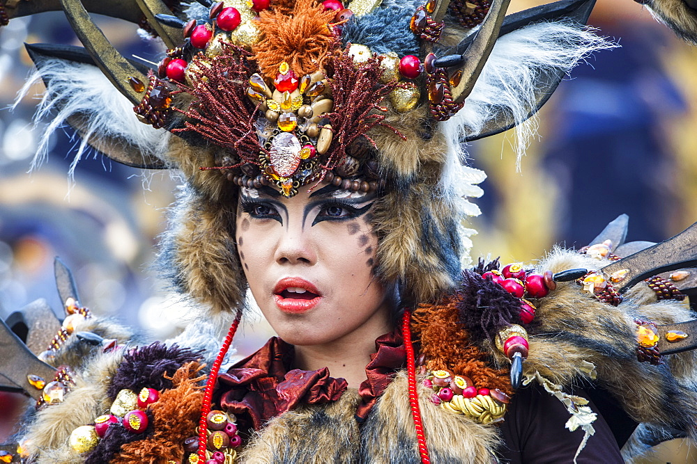 Stock photo of a performer at Jember Fashion Festival and Carnival, East Java