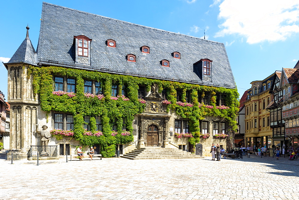 City Hall, Quedlinburg, UNESCO World Heritage Site, Harz, Saxony-Anhalt, Germany, Europe