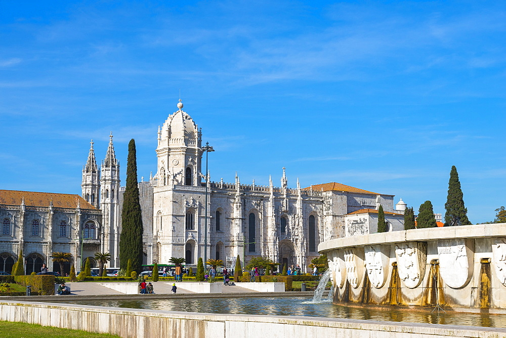 Mosteiro dos Jeronimos (Monastery of the Hieronymites), UNESCO World Heritage Site, Belem, Lisbon, Portugal, Europe
