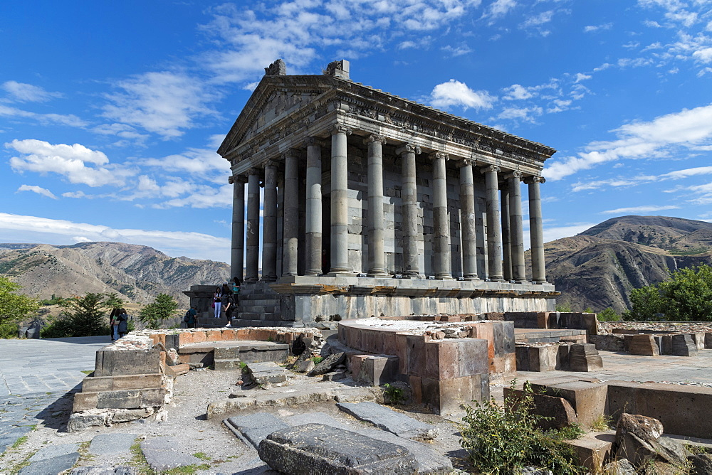 Classical Hellenistic sun temple of Garni, Kotayk Province, Armenia, Caucasus, Asia