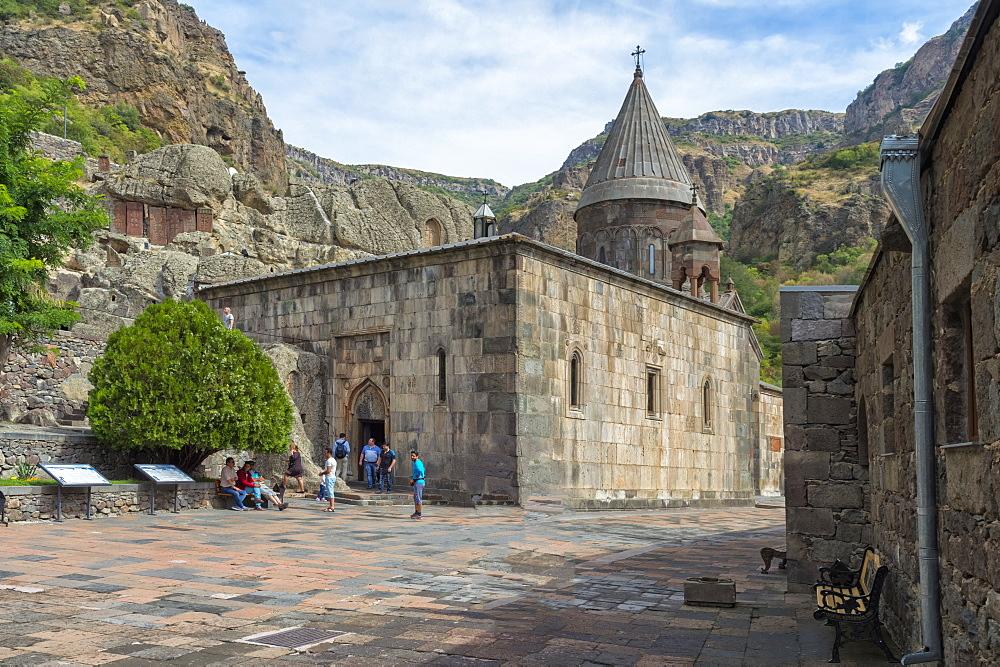 The 4th century Geghard Monastery, UNESCO World Heritage Site, Kotayk Province, Yerevan, Armenia, Caucasus, Asia
