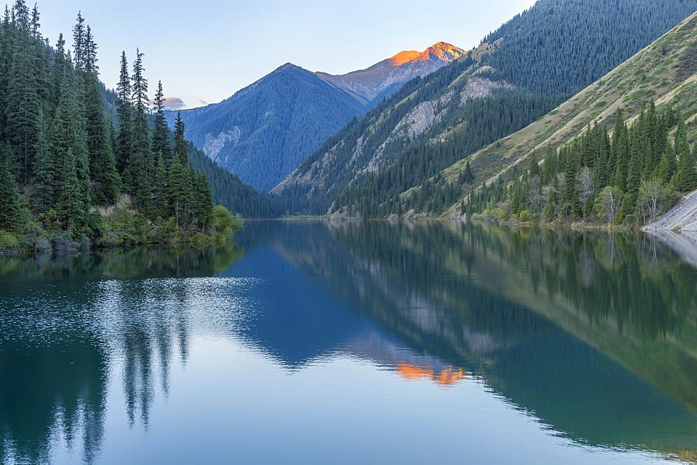 Kolsay Lake at early morning, Tien Shan Mountains, Kazakhstan, Central Asia, Asia - 1131-965