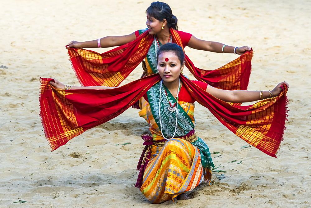 Tribal ritual dances at the Hornbill Festival, Kohima, Nagaland, India, Asia