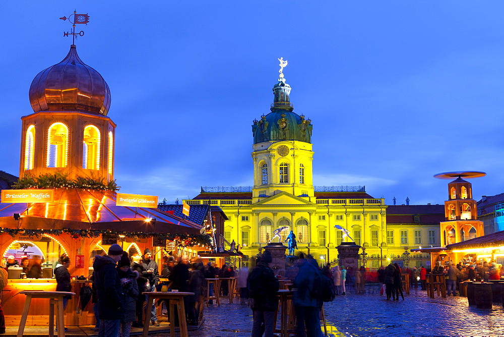 Christmas Market in front of Charlottenburg Palace, Berlin, Germany, Europe