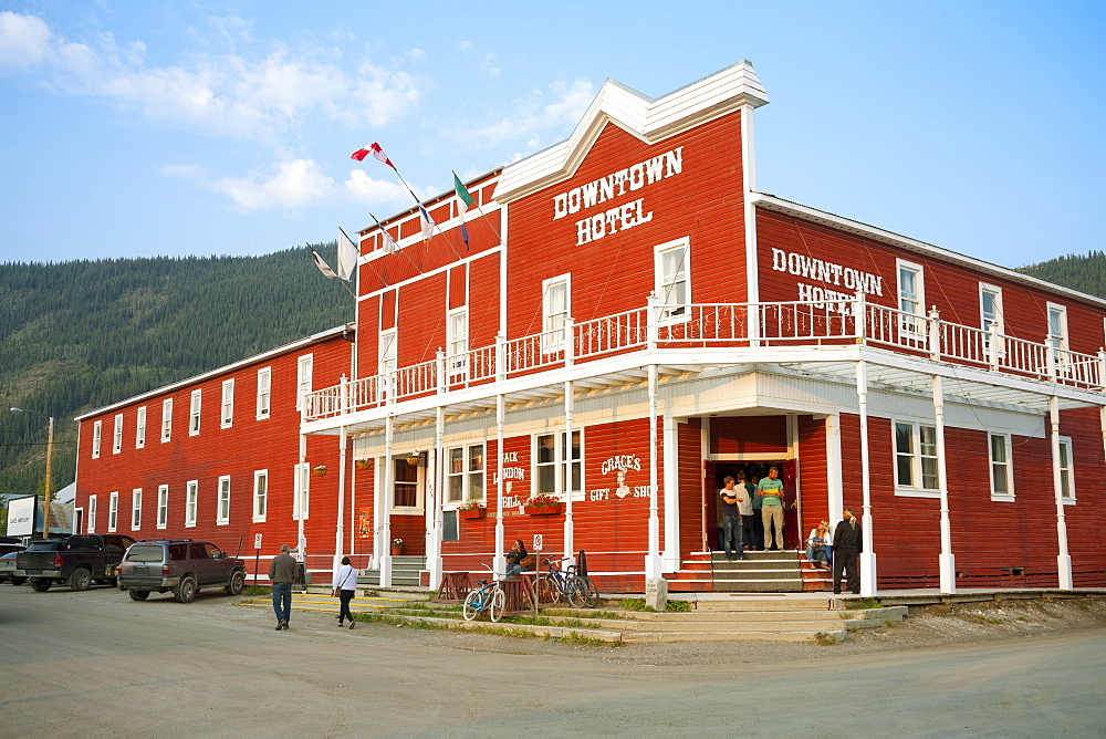 The Historic Downtown Hotel, Dawson City, Yukon, Canada, North America