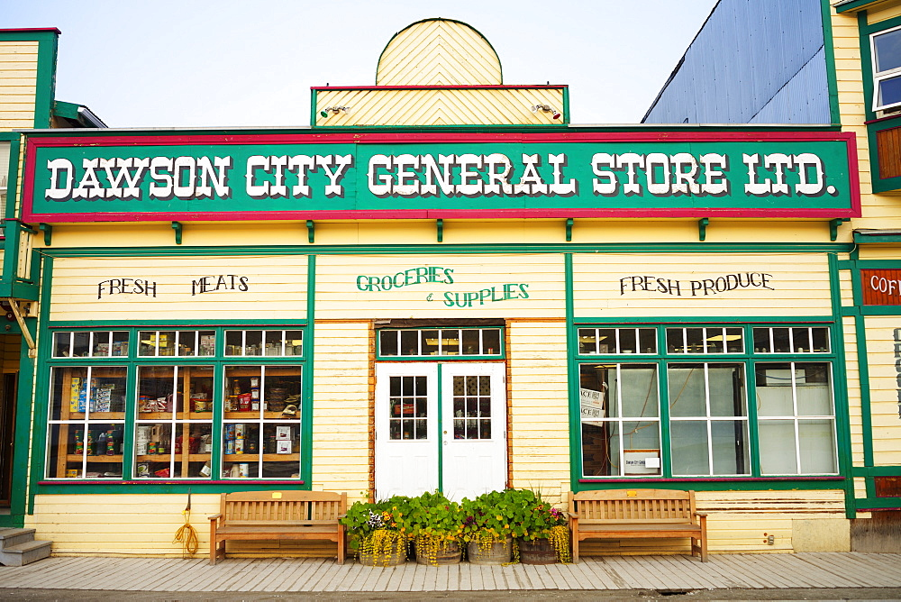A Historic Building on Dawson City's Main Street, Dawson City, Yukon, Canada, North America