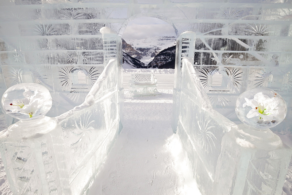 Ice Sculpture, Lake Louise, Banff National Park, Alberta, Canada, North America