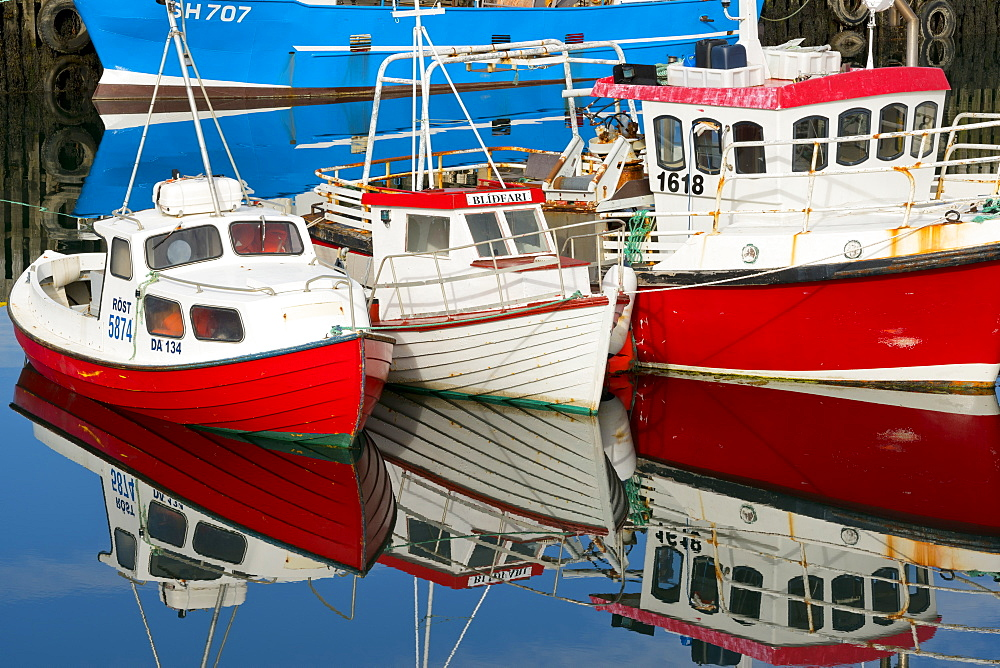 Boats in the Harbour at Stykkisholmur, Iceland, Polar Regions