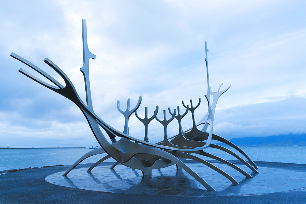 Sun-Craft Sculpture, Reykjavik, Iceland, Polar Regions