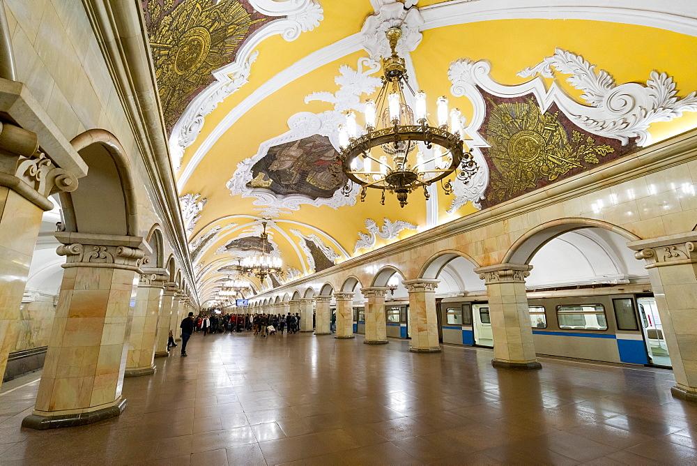 Komsomolaskaya Metro Station, Moscow, Russia, Europe