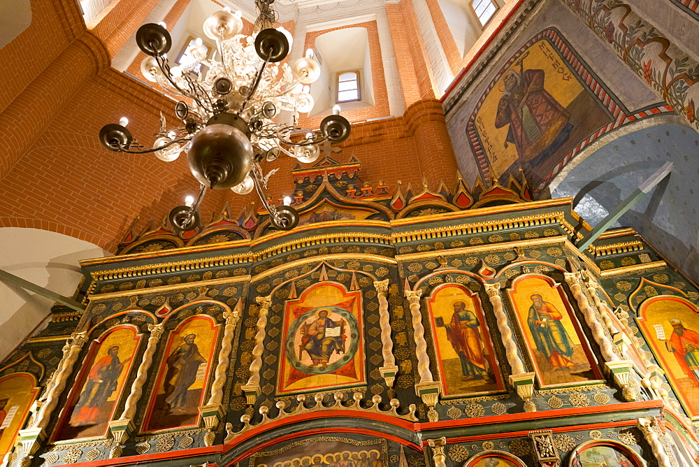 Iconostasis inside St. Basil's Cathedral, UNESCO World Heritage Site, Moscow, Russia, Europe
