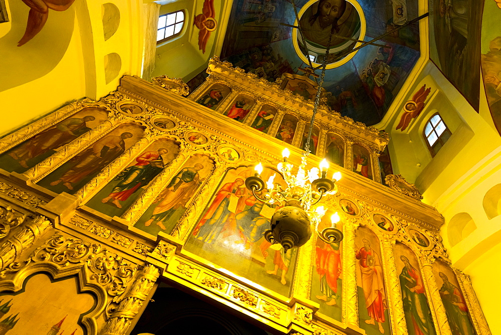 Iconostasis inside St. Basil's Cathedral, Moscow, Russia, Europe - 1132-367