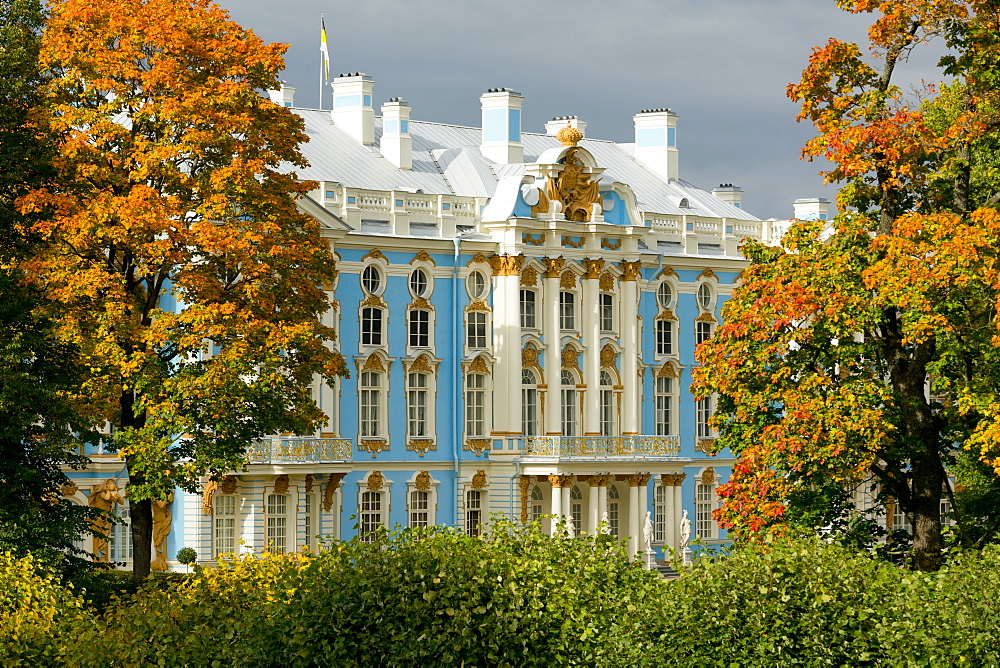 Catherine Palace, UNESCO World Heritage Site, Pushkin, near St. Petersburg, Russia, Europe