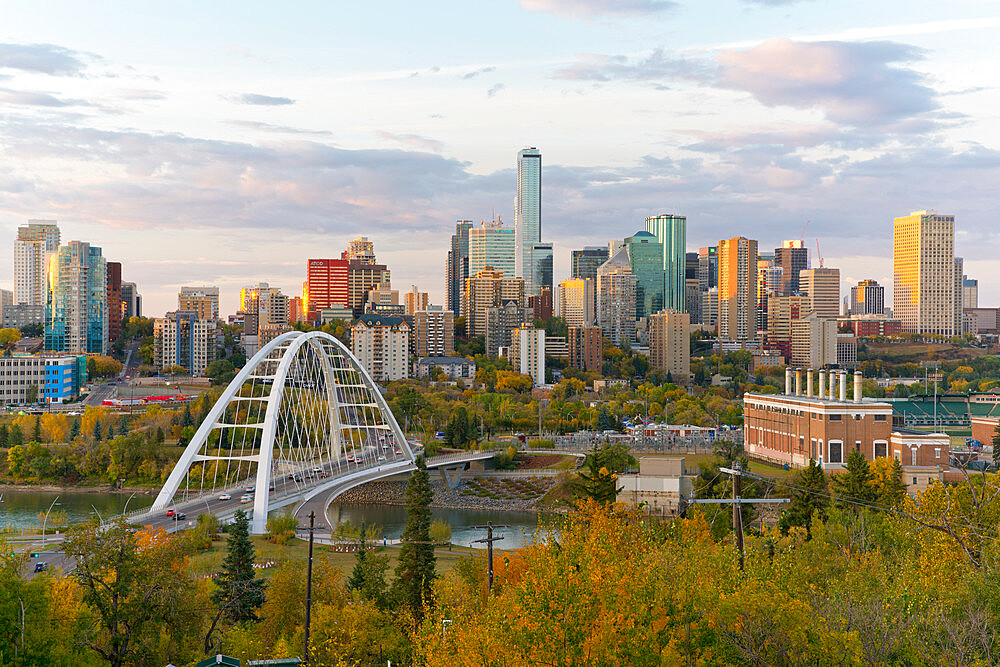 Edmonton Skyline and the North Saskatchewan River, Edmonton, Alberta, Canada - 1132-417