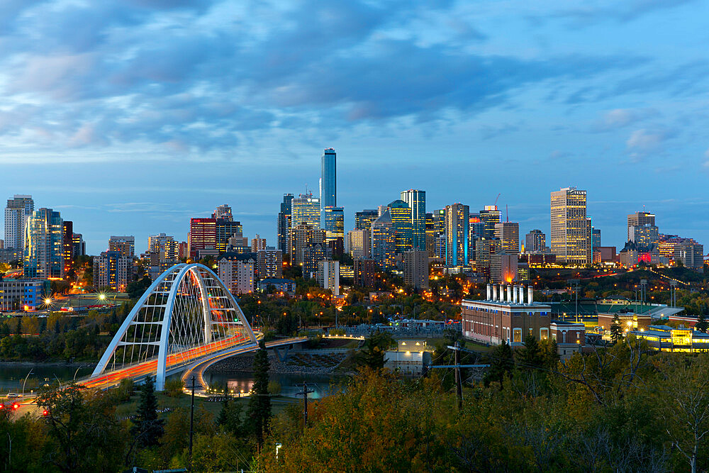 Edmonton Skyline and the North Saskatchewan River, Edmonton, Alberta, Canada - 1132-418