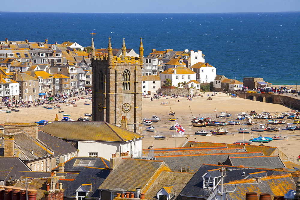 View over St. Ives, Cornwall, England, United Kingdom, Europe