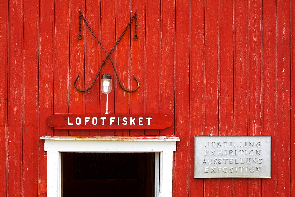 Red walls of the Museum Nord building