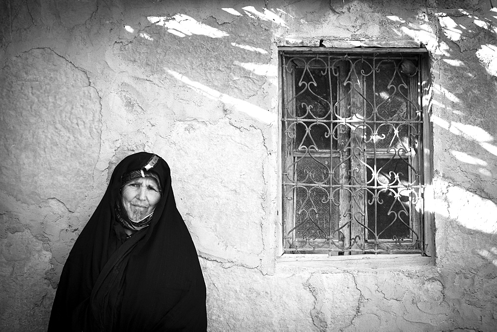 Portrait of a local woman, Tamtattouchte, Ouarzazate Province, Morocco, North Africa, Africa