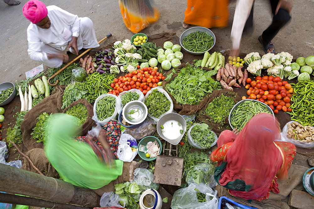 Vegetable Market, Jaisalmer, Western Rajasthan, India, Asia