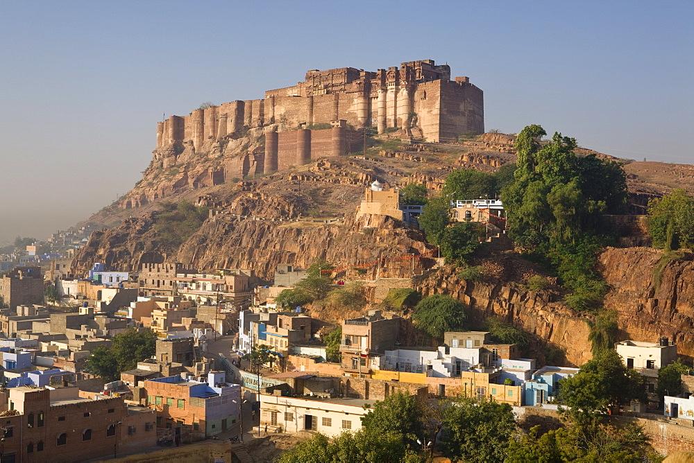 Meherangarh Fort, Jodhpur (The Blue City,) Western Rajasthan, India, Asia