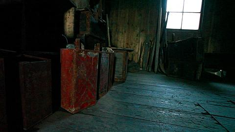 Petrol cans in Discovery hut, Ross Island, Antarctica
