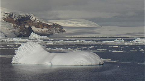 Scenic, Northeast Antarctic Peninsula with icebergs and sea ice